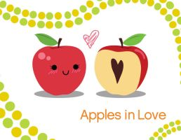 Apples in Love by akaneaome