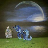 My LittlePony FiM blindbag custom: Princess Luna by vulpinedesigns