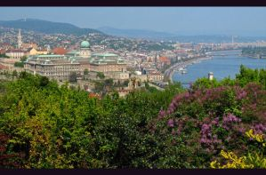 Budapest Cityscape in Spring by AgiVega