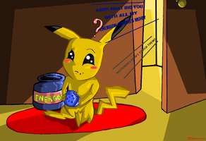 Pikachu likes energon! For Zerg620 by skyrore1999