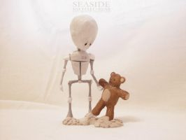 MICHAEL AND BEAR, SEASIDE by frail