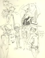 Sonic Girls Sketches 1 by Chobits13