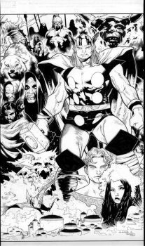 tales of asgard 1 cover by MarkMorales