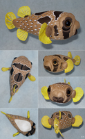 Plush commission - Porcupine fish by demiveemon