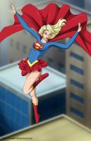 Supergirl descending -commisio by mhunt