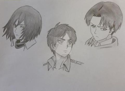 Attack On Titan Character Heads I. by Allexaire