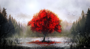 Red Tree 2 by Aeflus