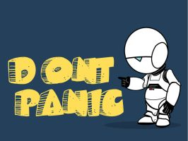 Don't Panic Wallpaper by rogueXunited