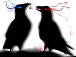 The ravens by ArcaFelidae