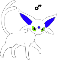 male ice espeon by mysterie2001