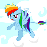 Rainbow Dash the Leo! by PhaennaMir