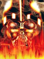 Burning Vader by David-c2011