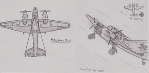 Pe-2 and Hs 129 by InsaneSamantha
