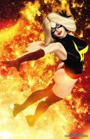 Ms Marvel Pin-up by tiangtam