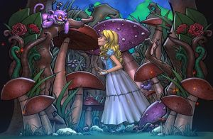 Alice VS Cheshire!!! Who will win? by SiriusSteve