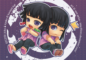 Commission: Kiku and Kyo by lires