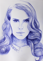 Lana Del Rey drawing by milkylibbs