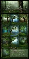 Misty Wood backgrounds by moonchild-ljilja