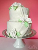 Wedding Cake with Marshmallow Fondant by SkuttyWan