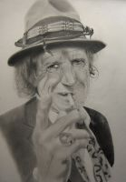 Keith Richards by ianwilgaus
