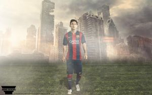 Lionel Messi Wallpaper by AMMSDesings