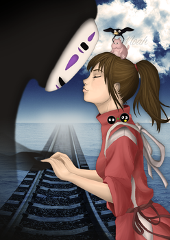 ~ CHIHIRO and NO-FACE ~ by Noah-Margera