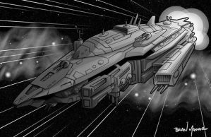Interdictor Battlecruiser by BrianManning