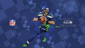 Russell Wilson QB Seattle Seahawks vector by akyanyme