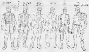 Albert Wesker- All Costumes (anatomy) Progress by divadonna224