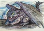 Baby Toothless by butchRbill