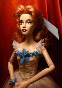 Doll Repaint-Moira Shearer in THE RED SHOES by R-Marie