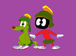 Looney Tunes - Marvin the Martian and K9 by TXToonGuy1037