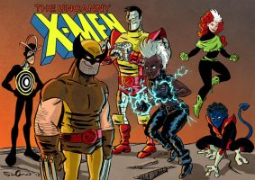 Late 80s X Men by SteveLeCouilliard
