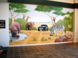 Landrover showroom by BogusTheMuralist