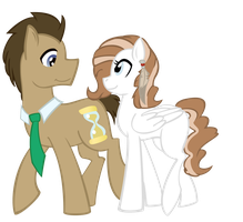 Dream and Doctor Whooves by versal1
