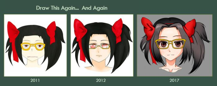 Ribbon and glasses - Draw this Again... and Again by gaixas1