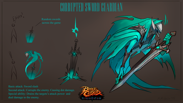 Corrupted sword guardian. by funzee