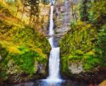 Columbia Gorge Multnomah Falls by RHuggs