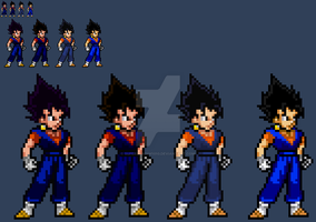 The many colors of Vegito by SuperShadiw1010