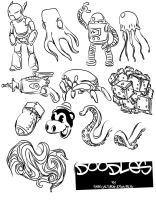 doodles vector pack by sexualtyranosaurus