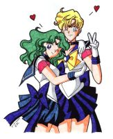 Senshi Cute Couple by sillyseaspirit