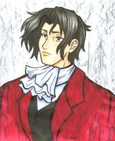 Magical-hair Edgeworth - color by HolliGenet