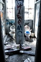 Abandoned Factory: Toilets by basseca