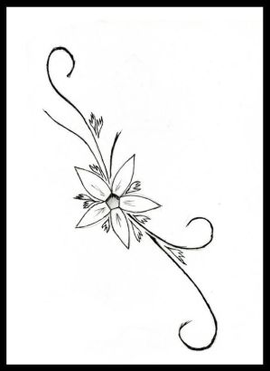 black and white flower tattoos. Flower Tattoo Design This
