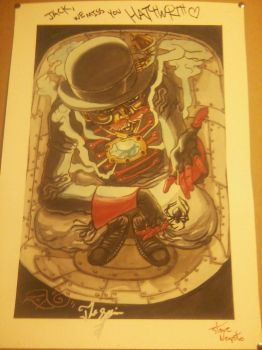 Steam Powered Giraffe autographed poster!! by Subject-Delta12