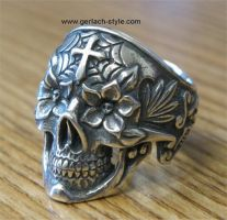 Day of the dead skull ring #2 by GerlachStyle