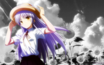 Kanade black and white by Aliddell by Aliddell