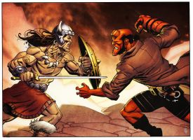 Conan vs Hellboy by spidermanfan2099
