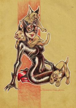 Catwoman and Bobcats by Ood-Serriere