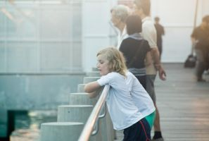 Blonde girl at the harbour by tsugami